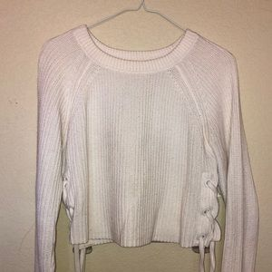 Long sleeve knit Charlotte Russe crop top